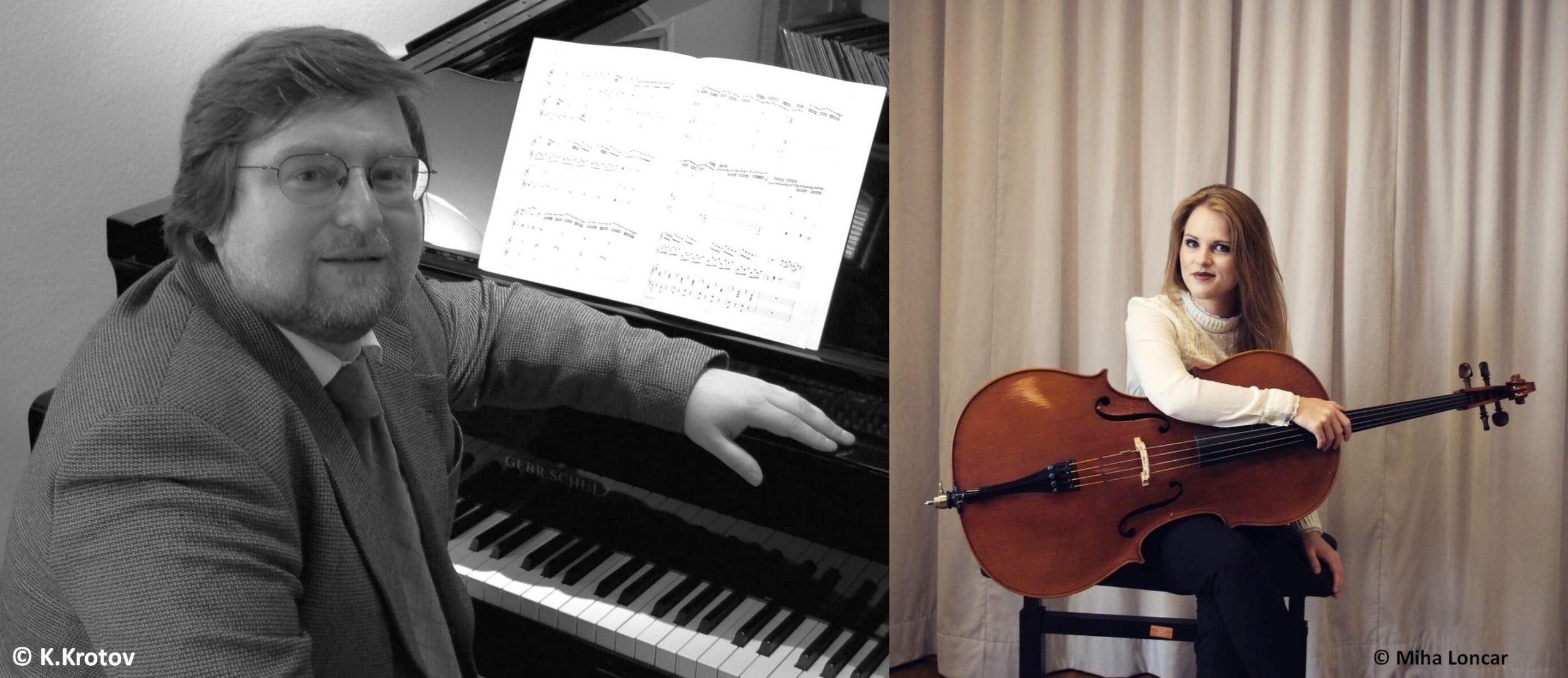"""10. Live Stream Konzert """"Von Liebe und Hoffnung""""  Lucija Rupert Violoncello und Kirill Krotov Klavier"""